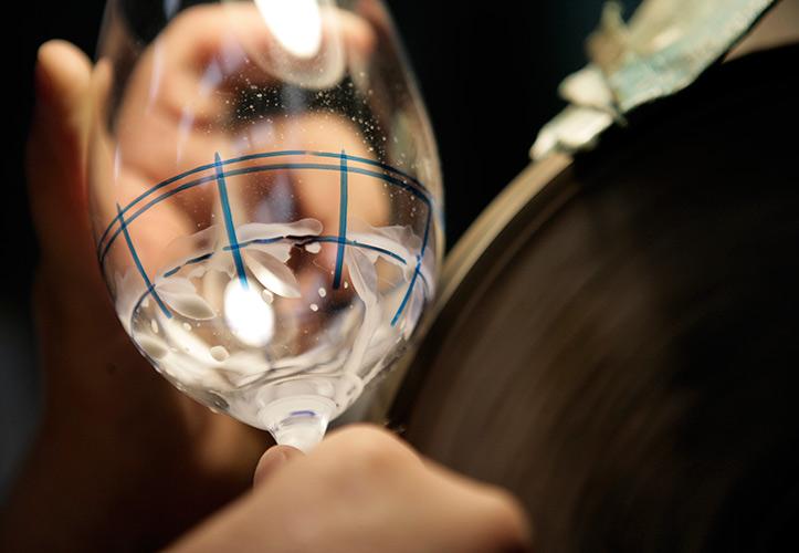 Paso 2: Cortar talla sobre cristal